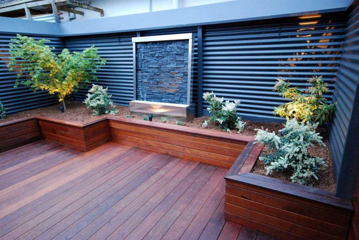 Decking with Planter Box