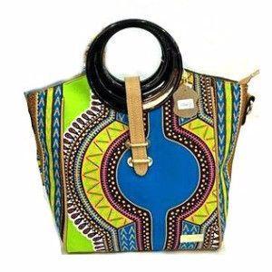 Dashiki Print Elegant Modern Fashion Handbag Green - Zabba Designs African Clothing Store - 1