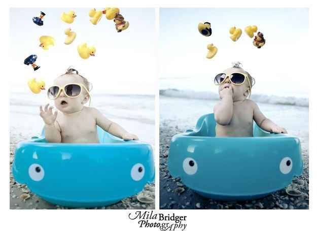 Bringing a baby bath to the beach means a baby doesn't have to miss out on splashing fun. | 33 Genius Hacks Guaranteed To Make A Parent's Job Easier