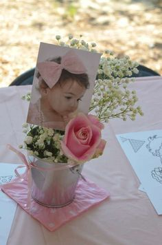 (Centerpiece idea) Ruffles and Bows Birthday Party Ideas | Photo 13 of 19 | Catch My Party: