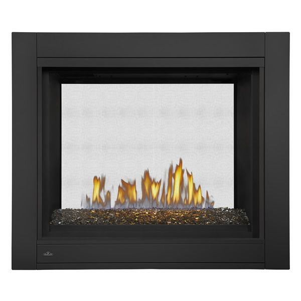 Napoleon Bhd4stg See Through Dv Gas Fireplace W Fire Glass Fire