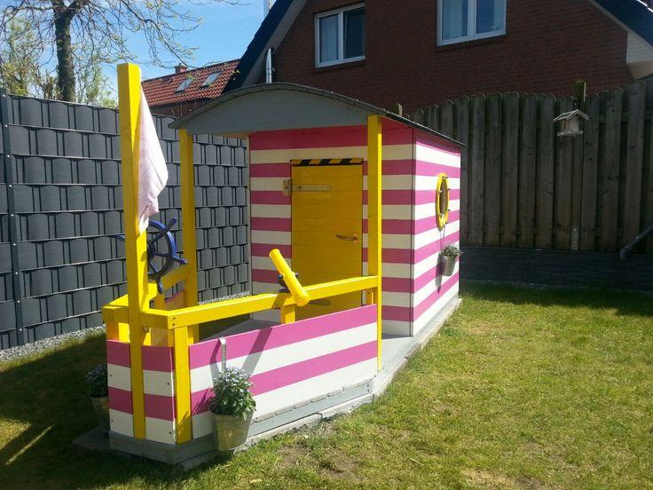 """Ein echtes Spielparadies für Kinder! """"Hausboot Villa Sonnenschein"""" Mehr Details findet ihr hier: http://www.toom-baumarkt.de/selbermachen/kreativwerkstatt/details/hausboot-villa-sonnenschein-2305/ #toom #Baumarkt #toomBaumarkt #toomTeam #Heimwerken #DIY"""