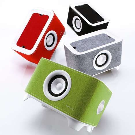 universal charger Photos 1 - Felt-Adorned Speakers pictures, photos, images