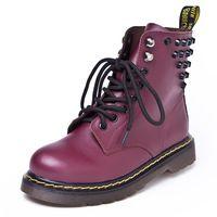 Новые 2015 зимние ботинки женщин заклепки из натуральной кожи ботинки для женщин , обувь мода черные ботинки Masculina бесплатная доставка