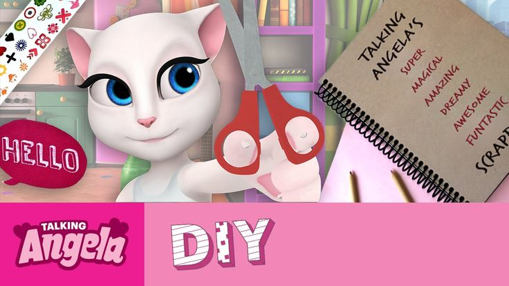 Talking Angela's DIY - How to Make a Scrapbook xo, Talking Angela #video…