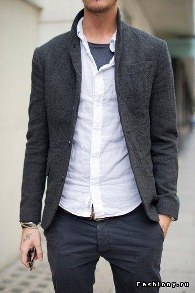 Мужской стиль и мужской антистиль. Моё мнение / мужские зауженные брюки и рубашка