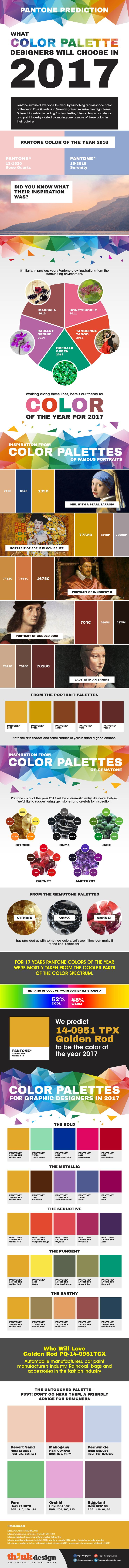 Infographic: PANTONE Prediction Of Color Palettes For Designers In 2017 - DesignTAXI.com