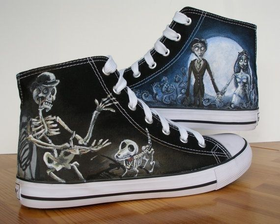 Tim Burton's Corpse Bride | Community Post: 15 Unique Customized Converse Sneaker Designs