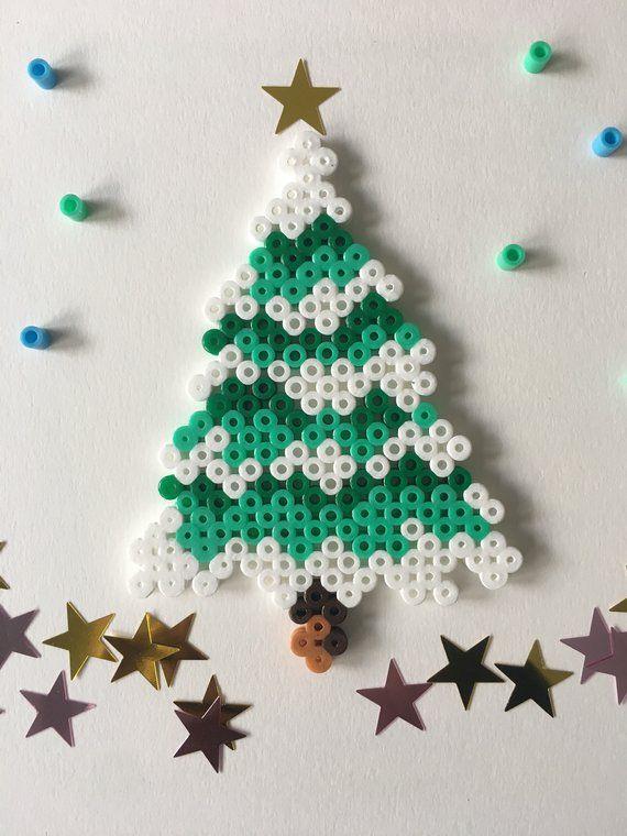 Snowy Christmas Tree Decoration Etsy Snowy Christmas Tree Christmas Tree Decorations Xmas Crafts