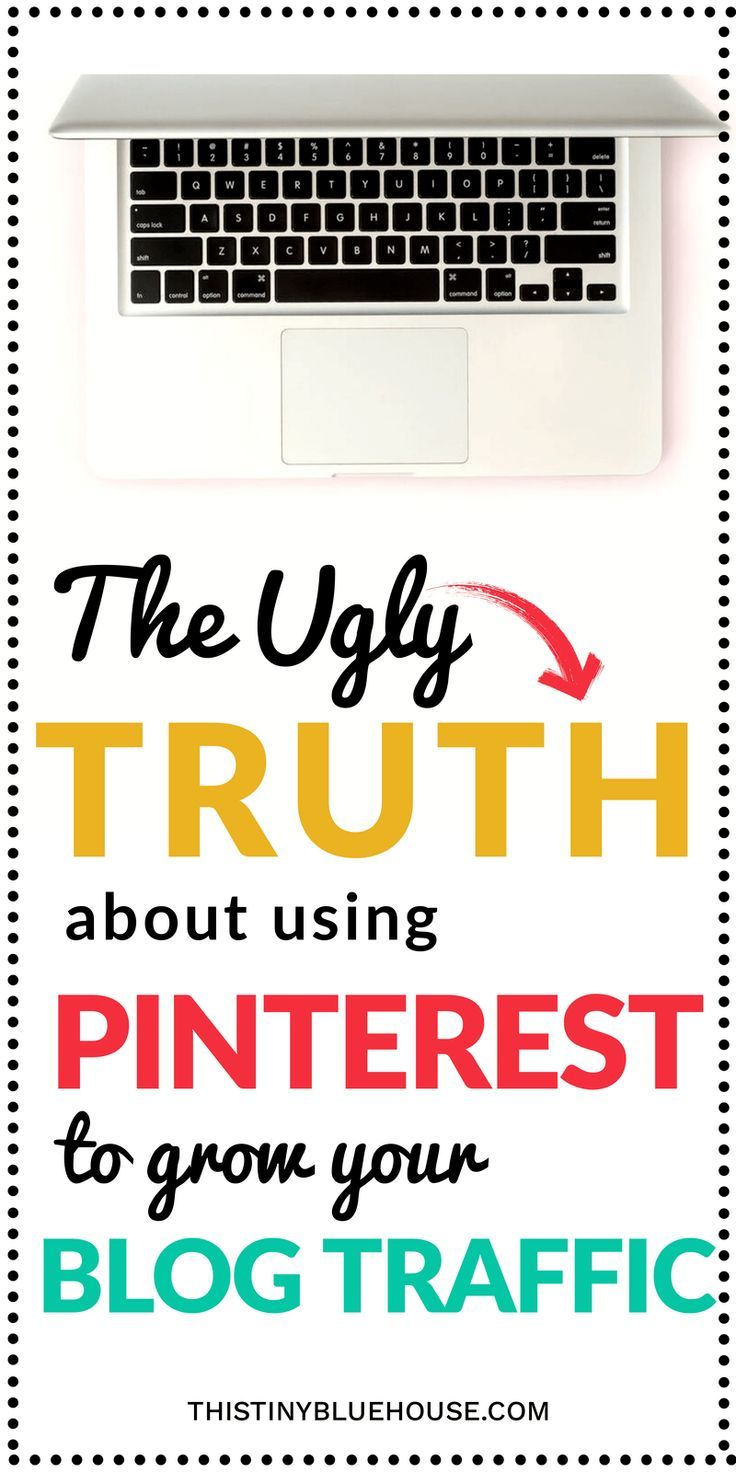 The ugly truth about using Pinterest to grow your blog traffic. Are you annoyed with all these tales of Pinterest traffic EXPLODING overnight by some secret strategy? Well, here's the real deal about using Pinterest to grow your blog traffic.