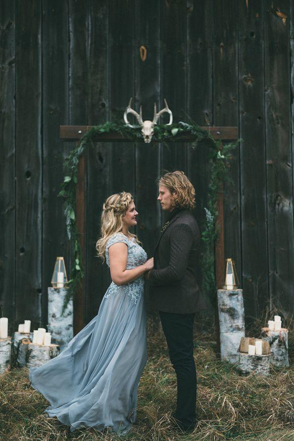 Nordic inspired woodland wedding - photo by LV Imagery http://ruffledblog.com/nordic-inspired-woodland-wedding