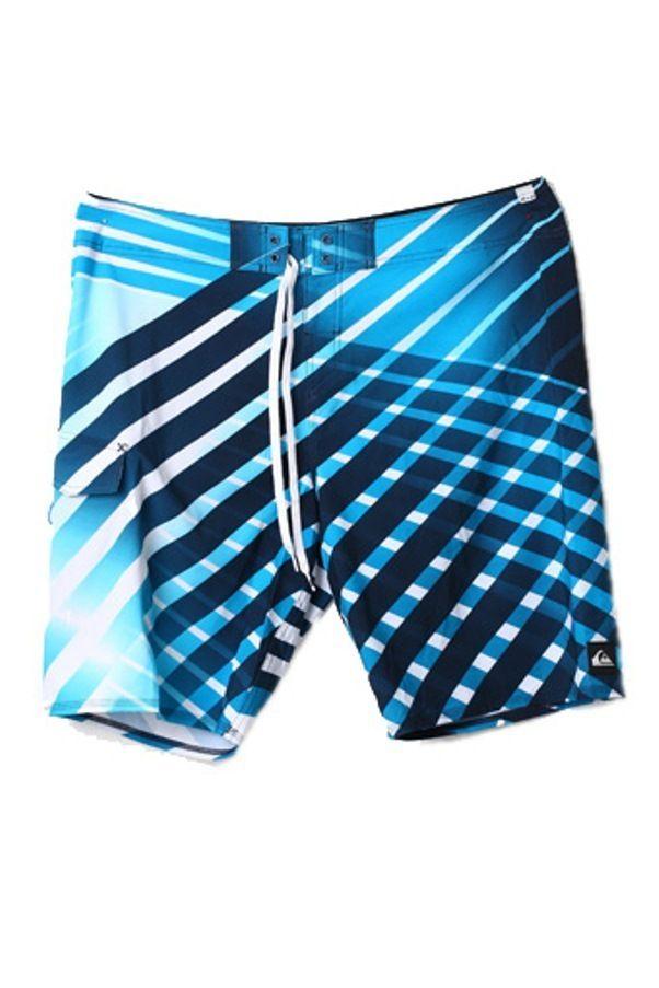 Quiksilver Celana Pantai Original Motif - Biru Tua-Biru Muda - Int:38