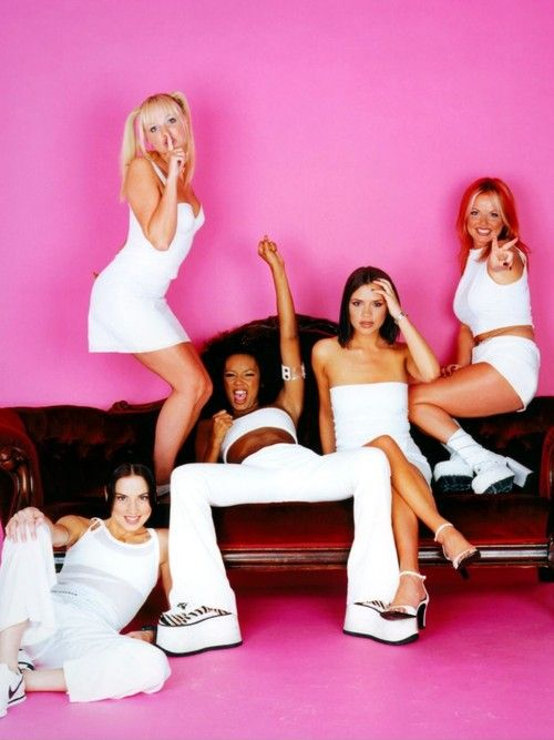 "The Spice Girls are a British pop girl group formed in 1994. The group consists of five members, who each later adopted nicknames initially ascribed to them: Melanie Brown (""Scary Spice""), Melanie Chisholm (""Sporty Spice""), Emma Bunton (""Baby Spice""), Geri Halliwell (""Ginger Spice""), and Victoria Beckham, née Adams (""Posh Spice"")."