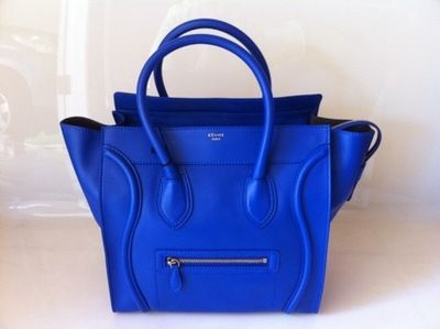 Celine bag in this gorgeous blue -OBSESSED w/ this bag! Love it!