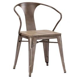 Helix Arm Chair in Rustic Wood