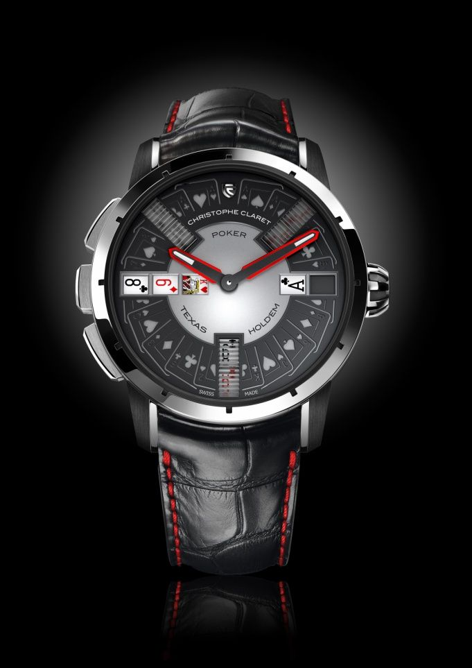 Christophe Claret Poker Watch For Luxury Wrist Gaming 160,000 - 172,000 Swiss Francs depending on the version (about $175,000 - $190,000).