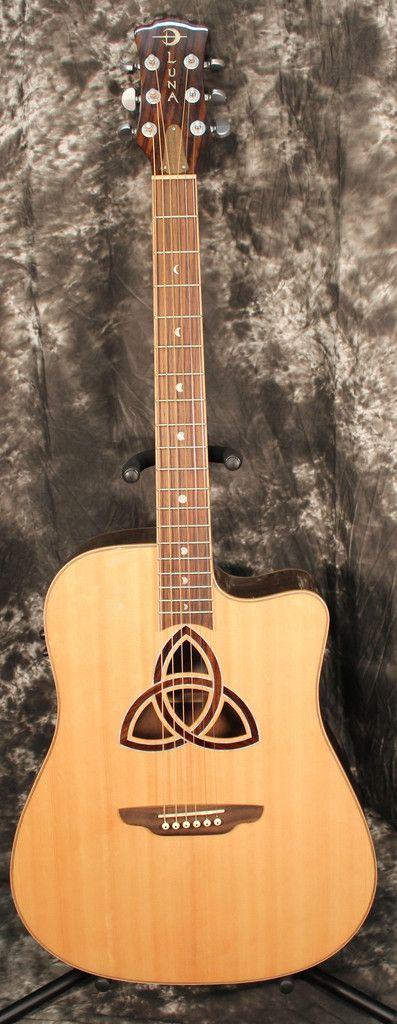 Luna Guitars Trinity Dreadnought Acoustic-Electric Guitar Natural