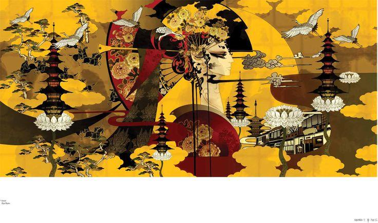 Aya kato Illustrator Japan. Art Dir. One8One7. Marcus Piper  Christy Johansson.
