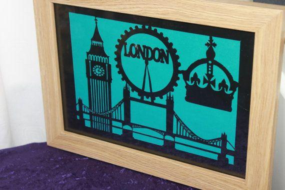 london cityscape papercutting papercut template downloadable pdf