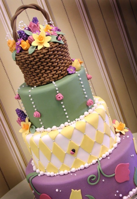 Flower basket Easter cake