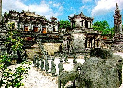 Khai Dinh Tomb of Hue Complex, Vietnam.  A UNESCO World Heritage site.