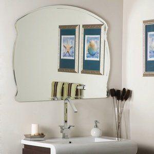 Decor Wonderland SSM1060 Wonder Frameless Wall Mirror Etched Glass