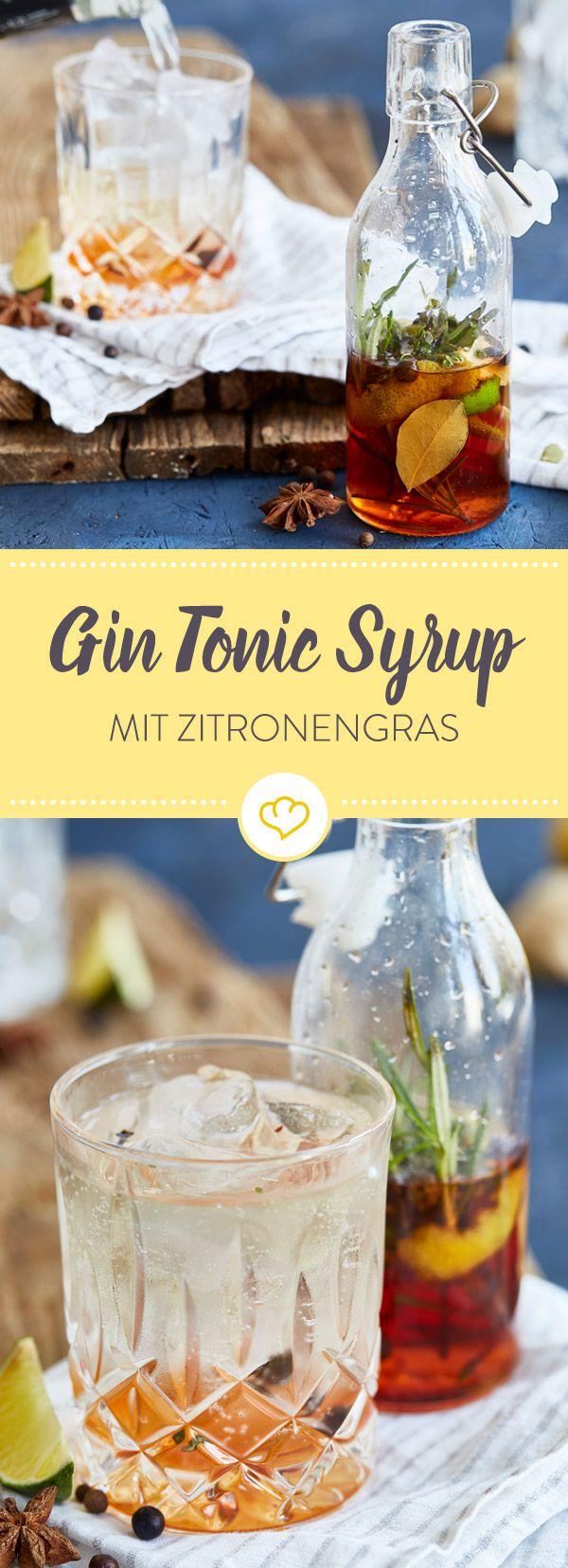 Lust auf Gin Tonic, aber kein Tonic Water im Haus? Gut, dass du selbstgemachten Tonic Sirup da hast, um sofort loszumischen.