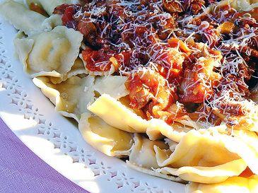 Mushroom sauce for pasta, from Alicia Paulson.