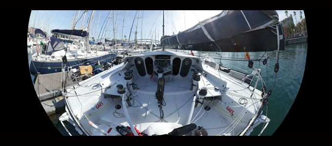 Popa del @IMOCA60 GAES @GigaPan Systems Systems