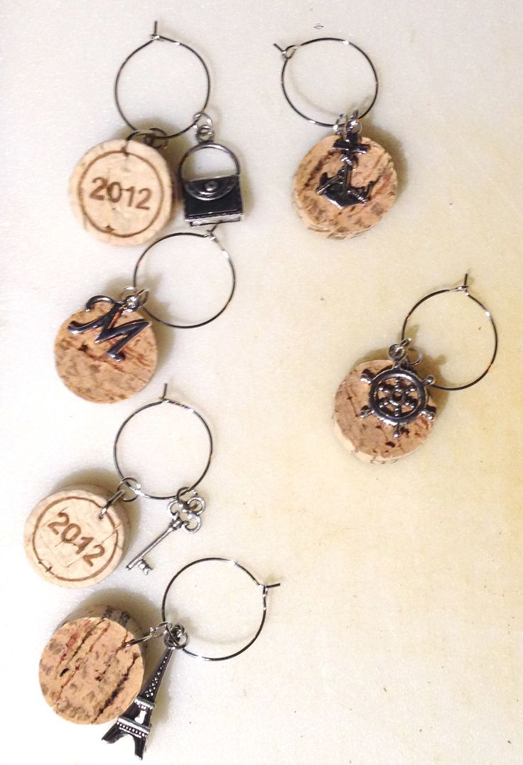 54 best Wine charms images on Pinterest | Bricolage, Wine glass ...