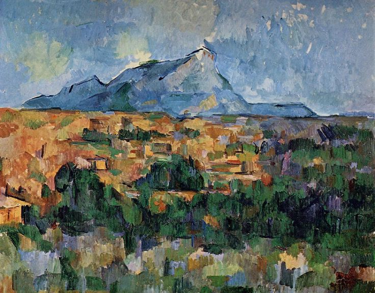 Mount Sainte-Victoire, 1904-06. Paul Cezanne.