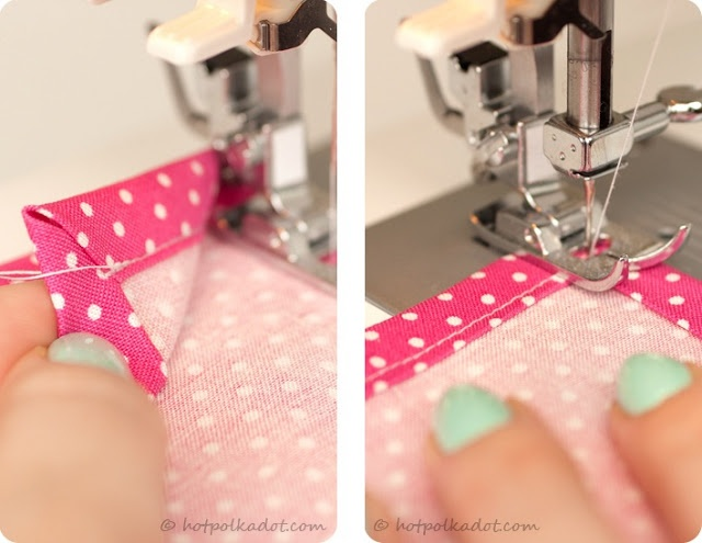 How to sew a mitered corner // cloth napkin or tea towel from Fiesta Resistance
