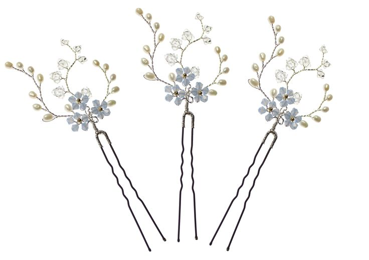 Hermione Harbutt Forget Me Not Hair Pins