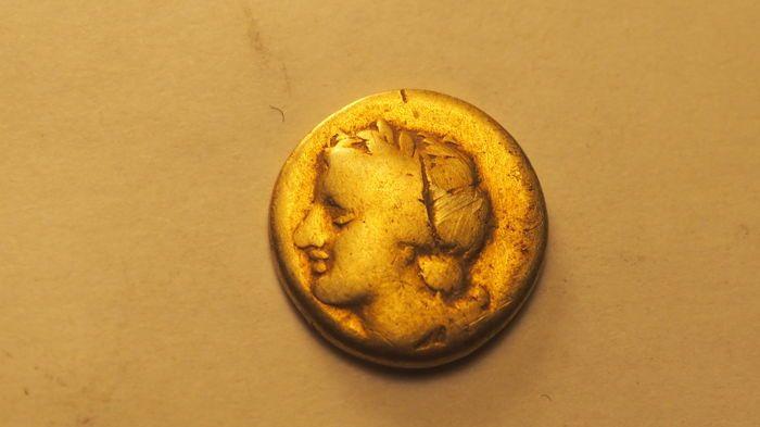 Maison d'enchères en ligne Catawiki: Grèce antique - Sicile, Syracuse, Agathokles, 317-289 av. J.C. 1/4 de stater / .12,5 Litrae (Electrum)