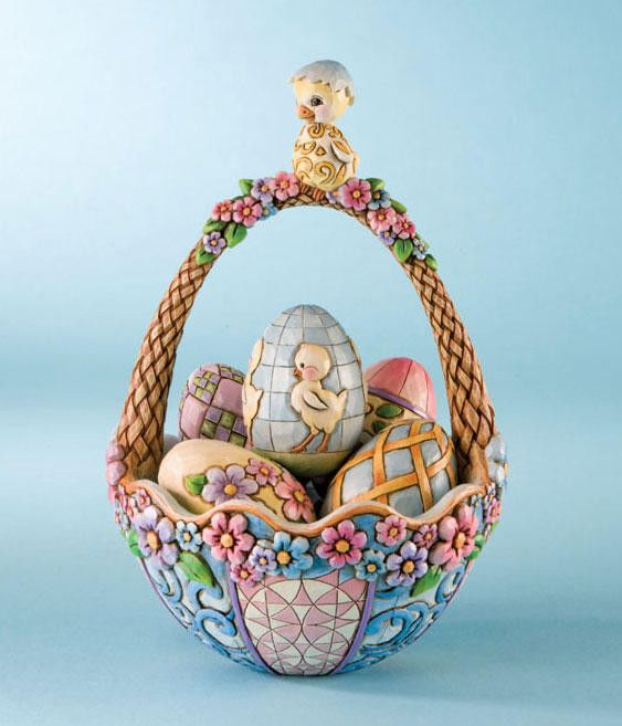 95 best jim shoreeaster collection images on pinterest jim o jim shore biddie basket easter basket w chick eggs 4009215 negle Image collections