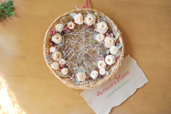 Plate Decor/ Natural Home Decor/ Dry Flower/ Dry by ArtloversHome