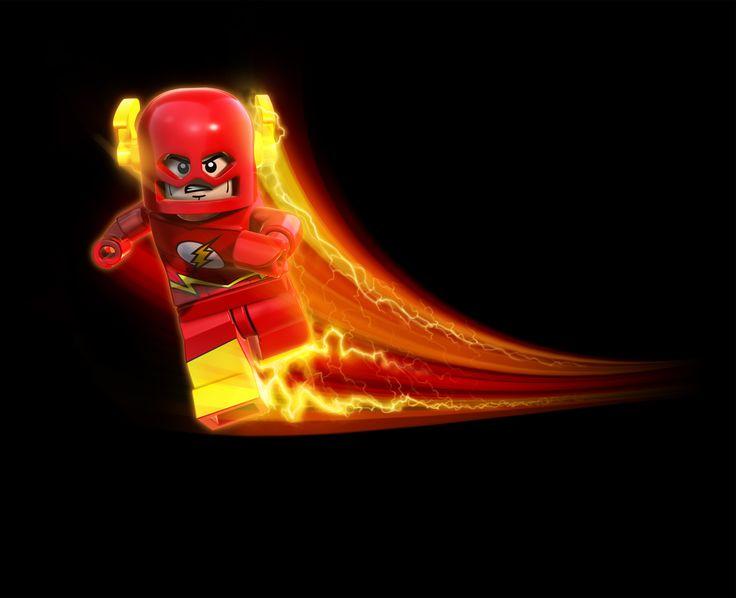 the flash   2014 LEGO Batman Riddler Chase Set w/ LEGO The Flash Minifigure!