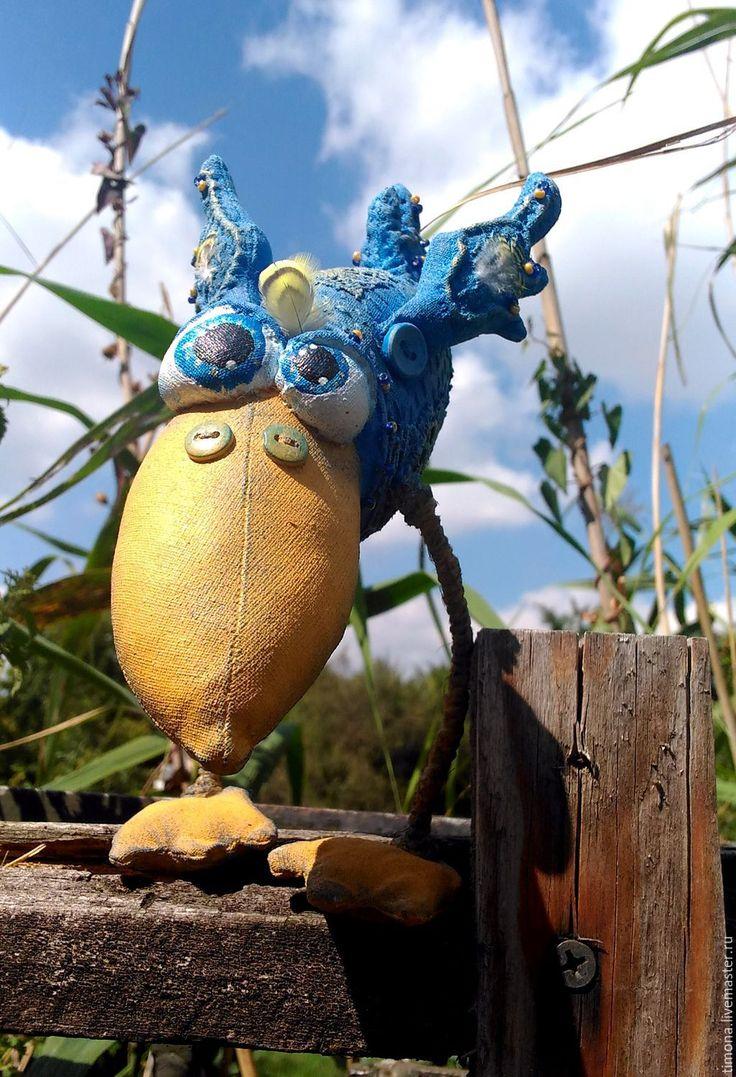 Купить Синий ПтЫц летний(Резерв для Александры) - синий, птица счастья, синяя птица, ПТИЦА УДАЧИ
