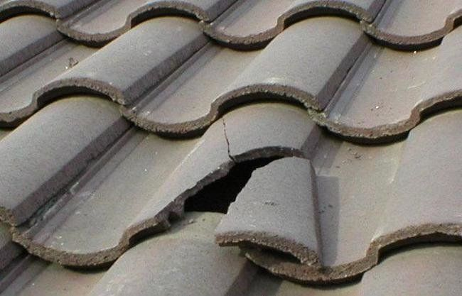 How To Fix A Broken Concrete Roof Tile In 2020 Emergency Roof Repair Concrete Roof Tiles Roof Repair
