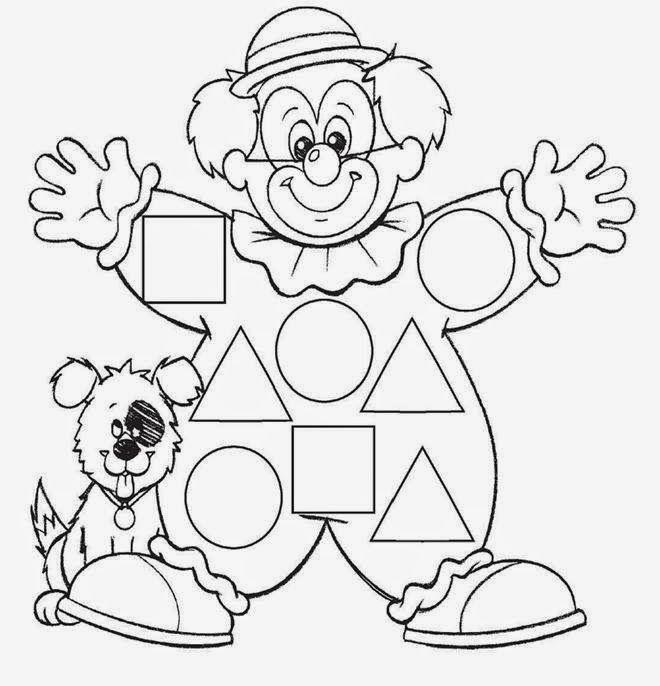 BAÚ DA WEB: Desenhos de palhaço para colorir, pintar, imprimir - Dia do circo