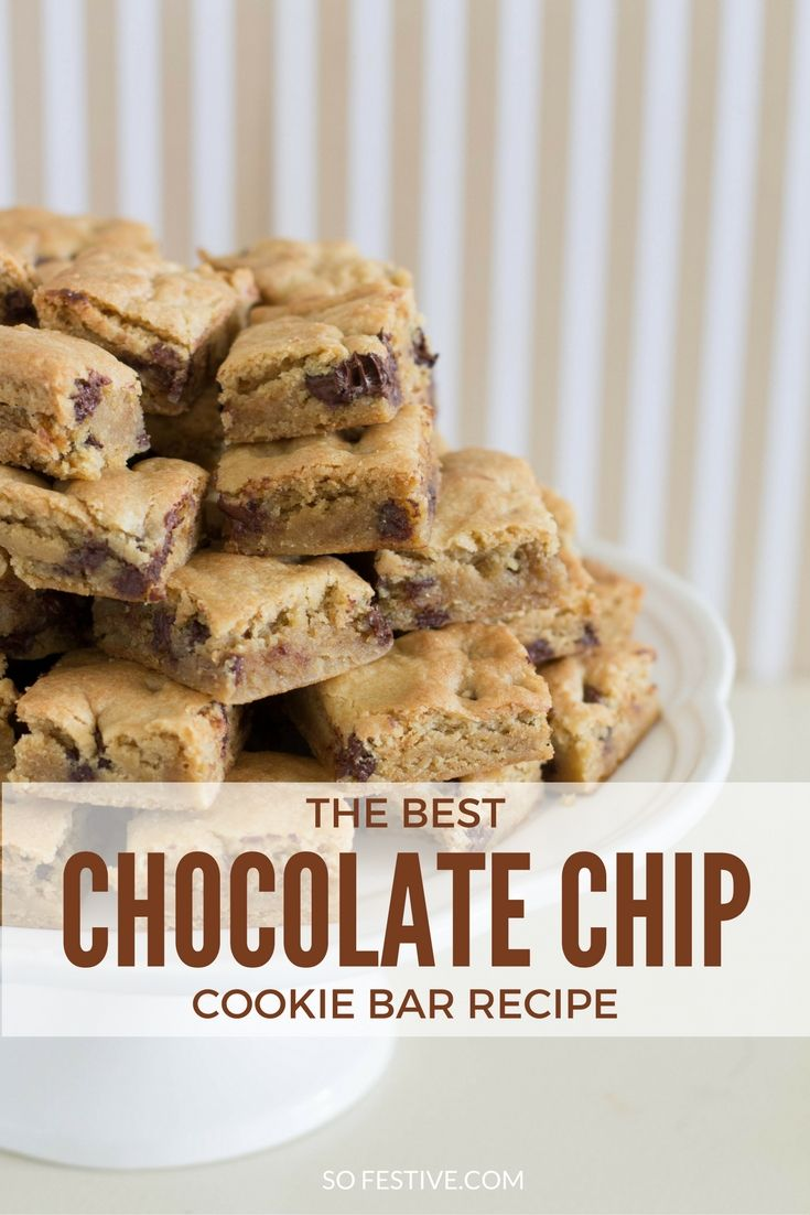 Feed a crowd simply with these amazing Chocolate Chip Cookie Bars. Make 2 dozen cookies in less than 30 minutes. Click for the recipe or save for later.