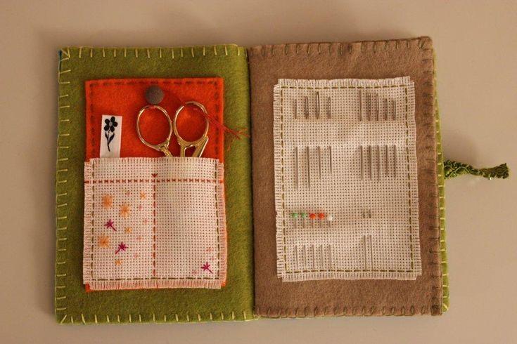 guarda agujas- Jojanneke's needle book page 1, 2