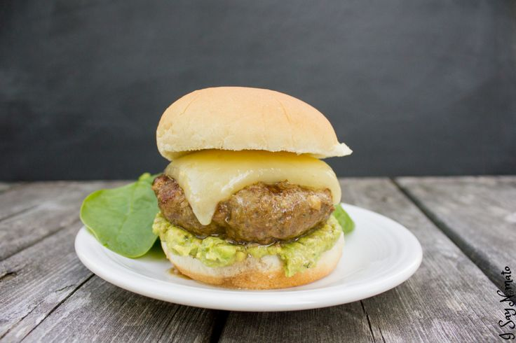 Backyard Burger - juicy and exploding with flavour