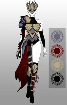 (closed) BUY NOW - Outfit Adopt: Dragon Knight by CherrysDesigns