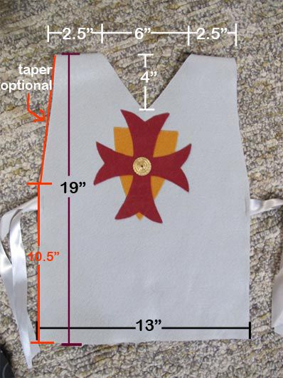 I'm posting these pics for anyone interested in making the tunics I posted about for Avery's 6th birthday… You can make any easy paper pattern by following the measurements on the…
