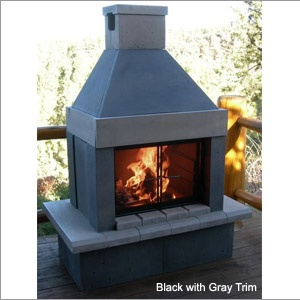 Best 25 outdoor fireplaces ideas on pinterest outdoor for Prefab wood burning fireplaces