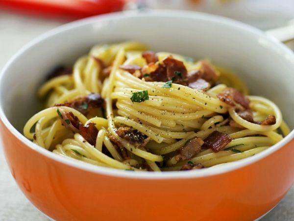 Spaghetti carbonara - Libelle Lekker!