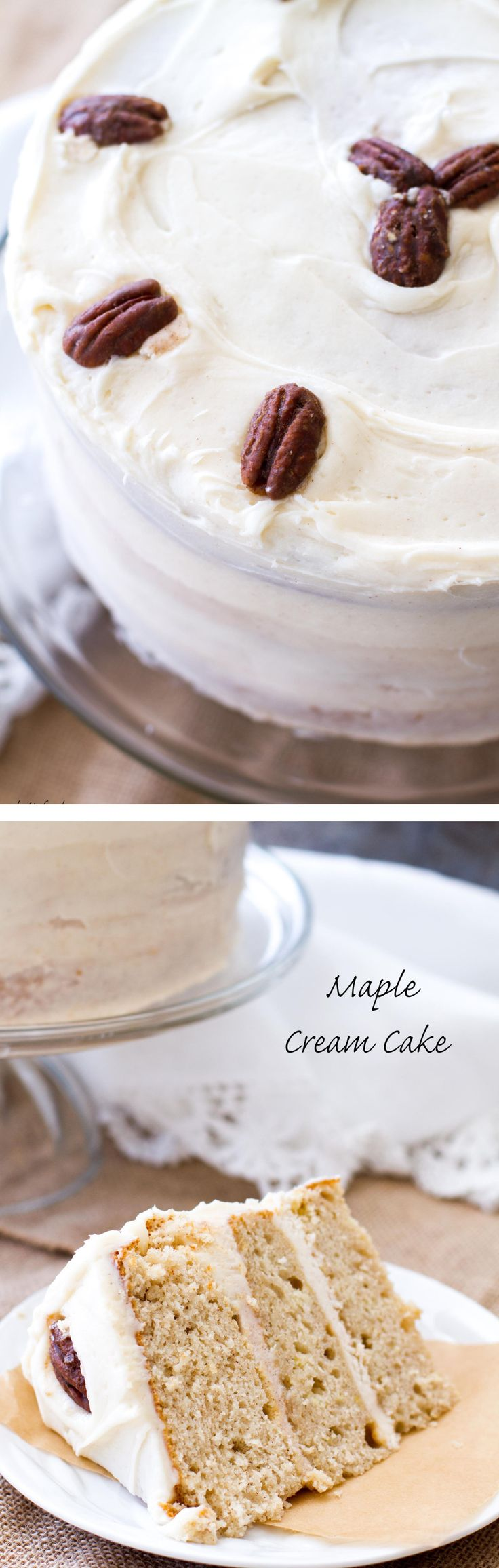 This maple cream cake recipe uses cake mix as a base to make a stunning yet simple cake!