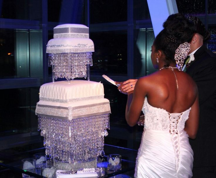 Stunning Crystal Chandelier Cake Stand By Dacceni Occasions Contact Us Today Margaret