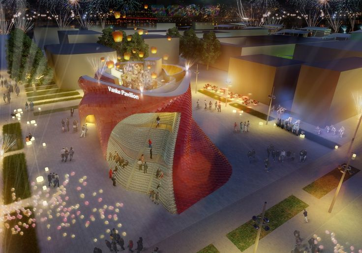 """Milan Expo 2015: Libeskind Reimagines the Chinese """"Shitang"""" for Vanke"""